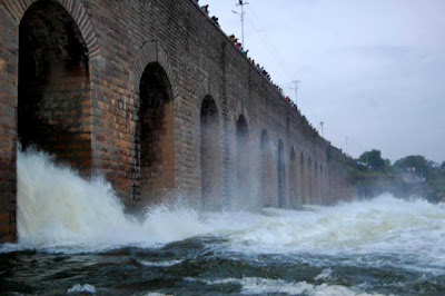 Osman Sagar Gandipet Lake in Hyderabad District in Telangana
