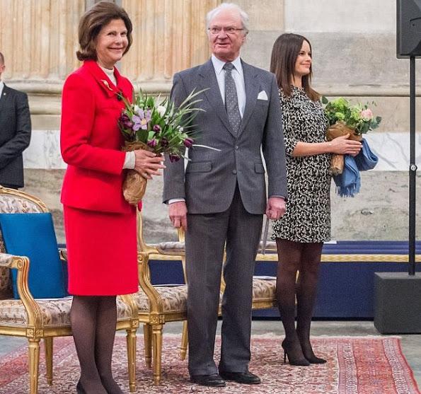 King Carl Gustaf, Queen Silvia, Princess Sofia At The Palace Festival