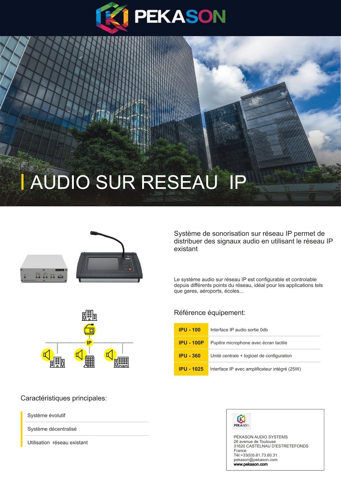 Sonorisation reseau IP