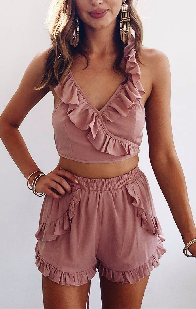 pink two-piece| summer vibes