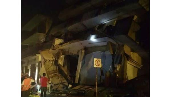 Cae hotel en Oaxaca por el terremoto de 8.4; reportan personas atrapadas