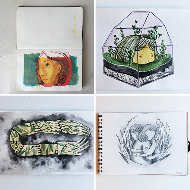 Jesse Zhang, Sketchbook Conversations, sketchbooks, My Giant Strawberry