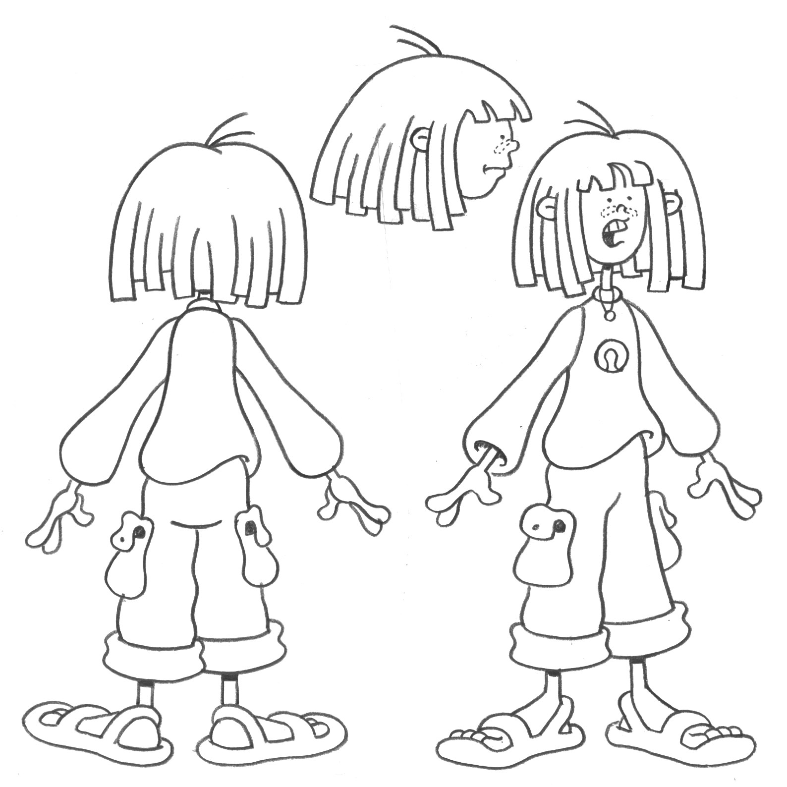 warburtonlabs the pepper ann finale character designs
