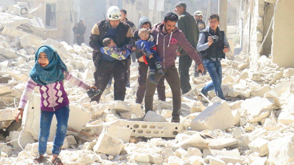 Biadab, Rezim Suriah Habisi Ratusan Warga Idlib Dengan Gas Beracun