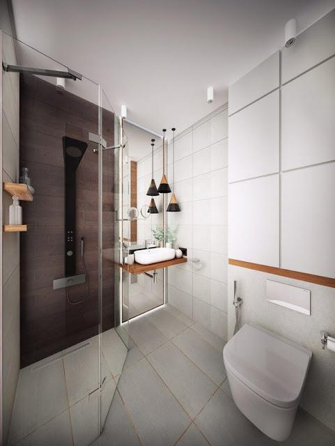 Thiết kế nhà tắm trong căn hộ 25m2