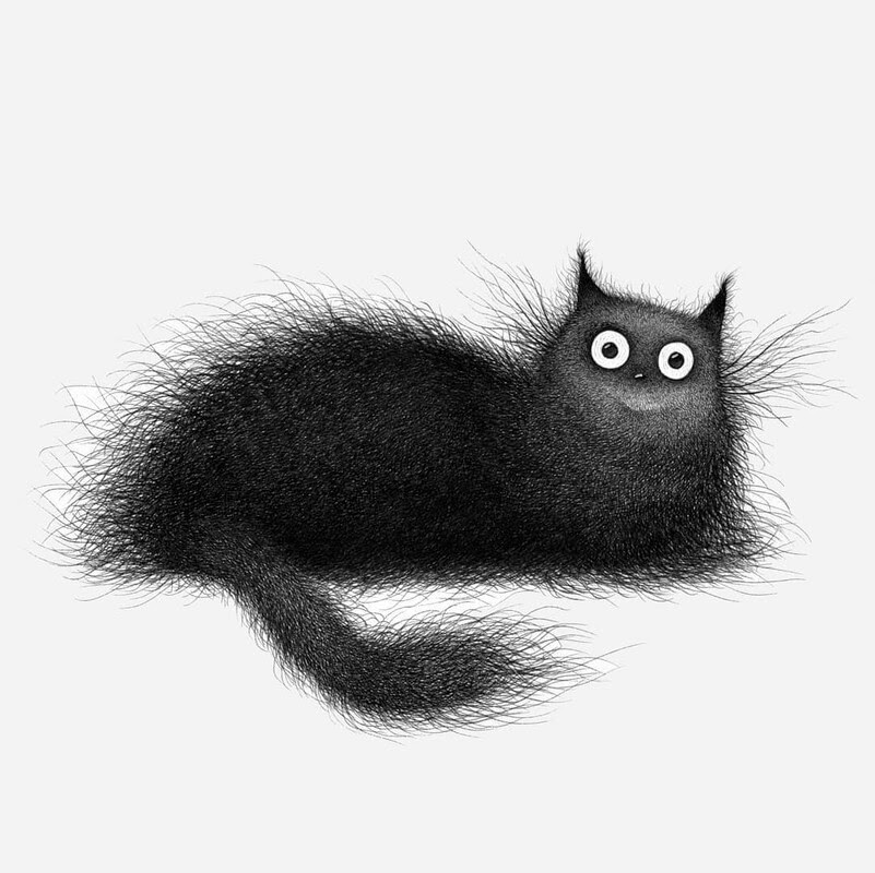 06-Luis-Coelho-Ink-Animal-Drawings-Cats-and-More-www-designstack-co