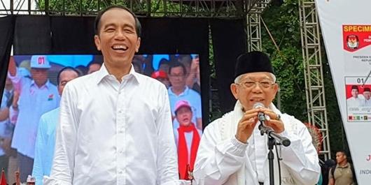 Ma'ruf Amin: Sulit Hitung Jumlah Massa di Tangerang, Sampai 3 Kilometer