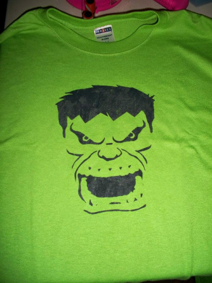 DIY painted Hulk t-shirt