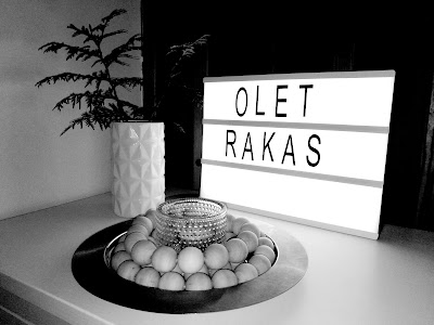 Saippuakuplia olohuoneessa -blogi. Diy Light Box Sign