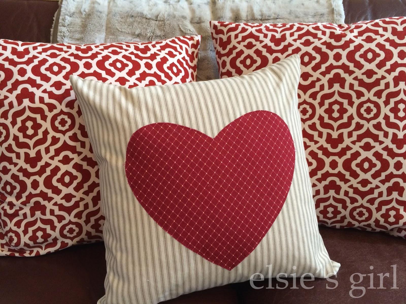 elsie's girl: valentine pillows