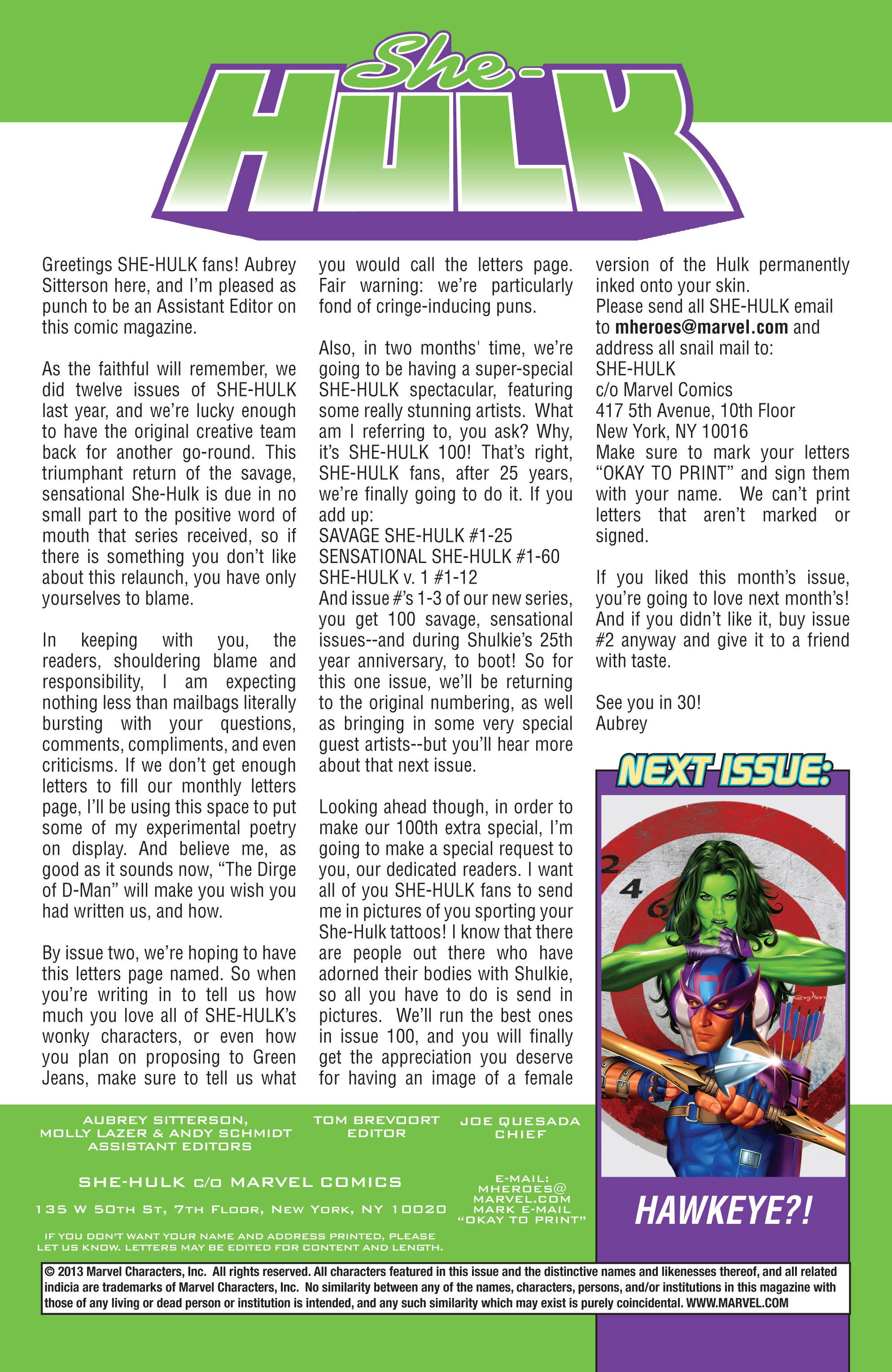 Read online She-Hulk (2005) comic -  Issue #1 - 24