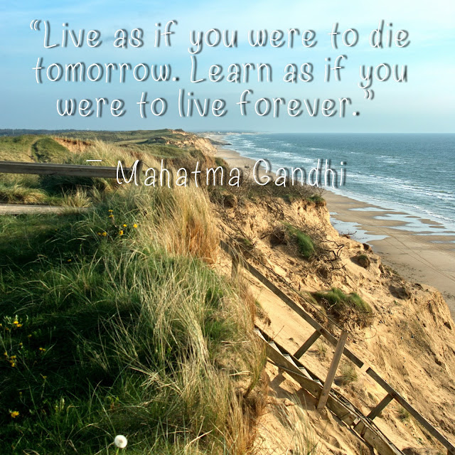 Live as if you were to die tomorrow. Learn as you were to live forever. - Mahatma Gandhi