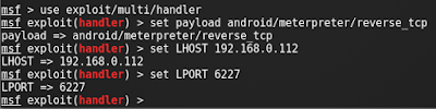set payload android
