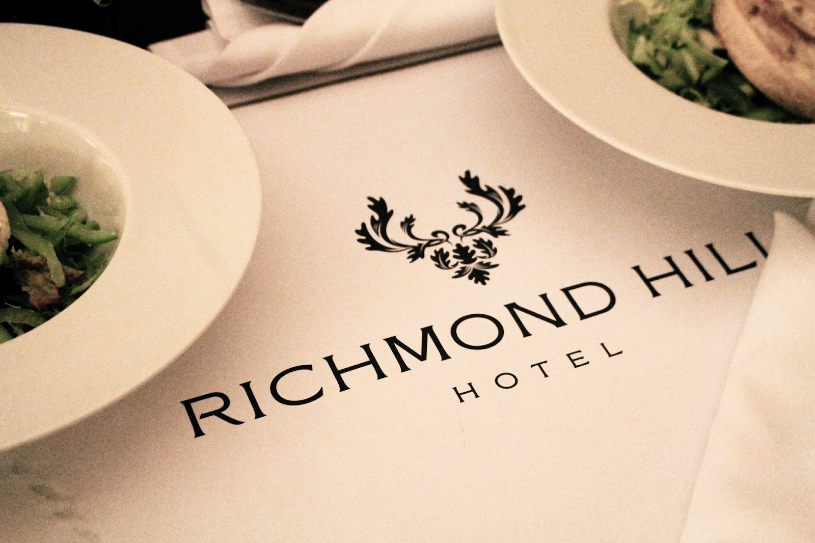 Room service food at Richmond Hill Hotel