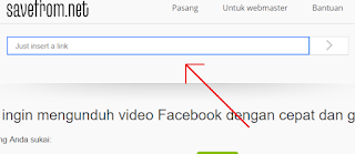 paste link download video facebook savefrom.net