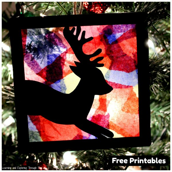 Stained Glass Christmas Silhouettes
