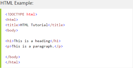 Html Example