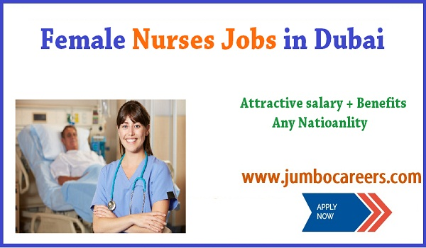 Dubai  nurse job for Indians, Female jobs in Dubai,