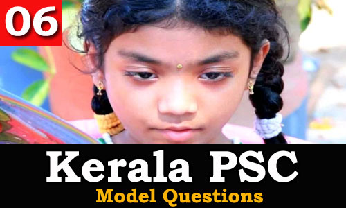Kerala PSC - Model Questions English - 06