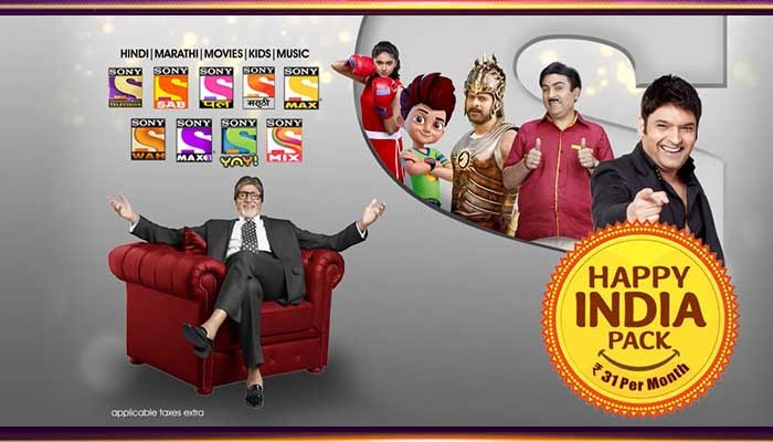 Sony Happy India All Pack Channel List & Price – Rs 12 To Rs