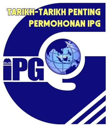 kalendar aktiviti tarikh penting permohonan IPG