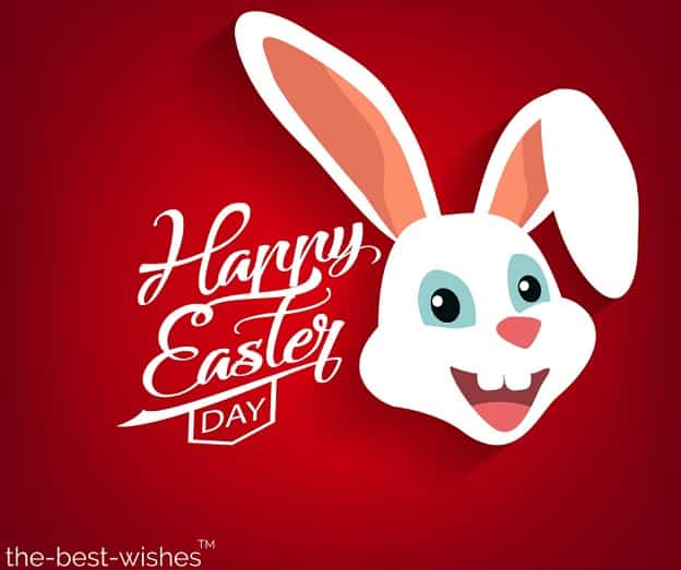 happy easter blessing with bunny
