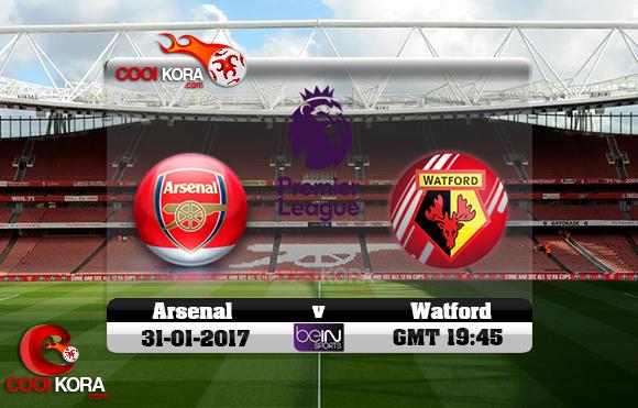 مشاهدة مباراة آرسنال وواتفورد اليوم 31-1-2017 في الدوري الإنجليزي