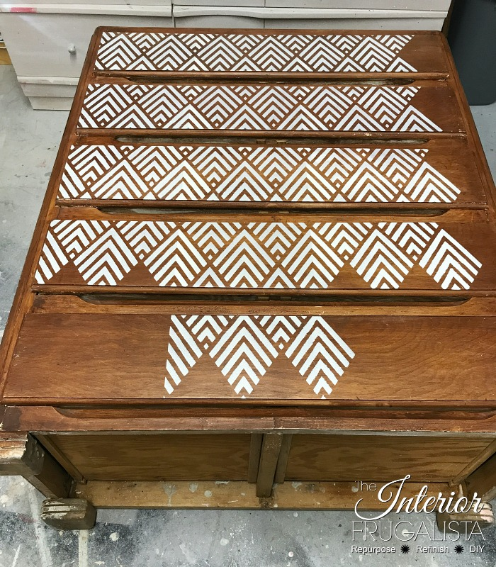 Geometric Dresser Stencil Progress