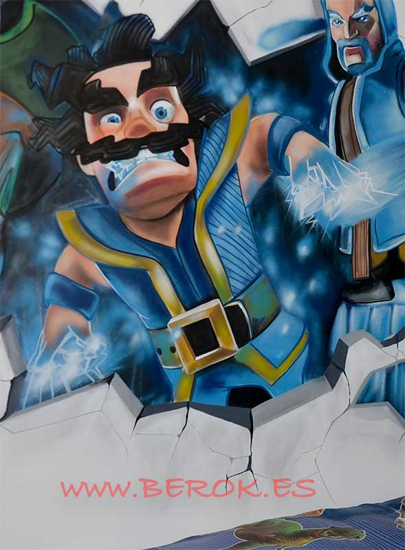graffiti clash royale mago eléctrico