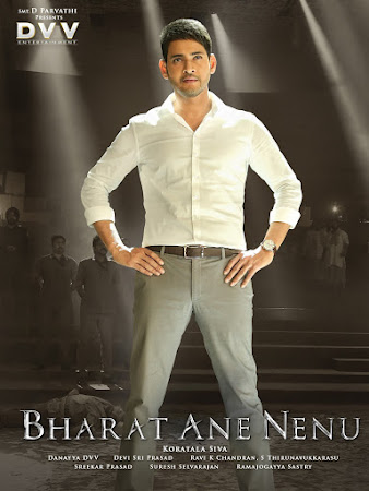 Poster Of Bharat Ane Nenu 2018 Full Movie In Hindi Dubbed Download HD 100MB Telugu Movie For Mobiles 3gp Mp4 HEVC Watch Online