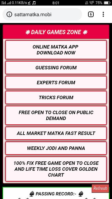Satta Matka King Daily Game Zone