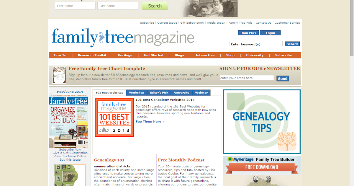 genea musings family tree magazine highlights best 101 genealogy websites for 2014