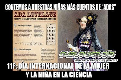 Ada Lovelace cuentos día internacional de la mujer y la niña en la ciencia cualquier día meme