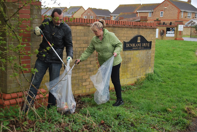 Litter picking in Orton Southgate