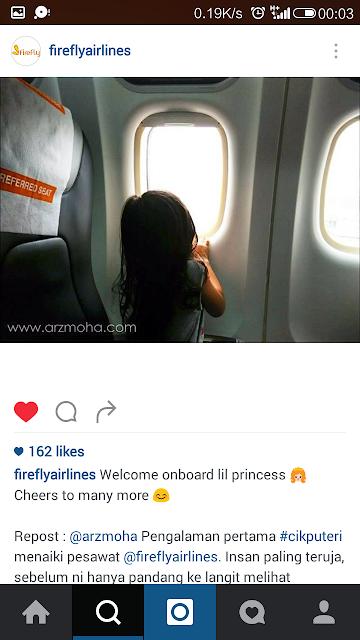 Cik Puteri di Instagram Firefly, Firefly malaysia instagram, CIk Puteri, kids on instagram,