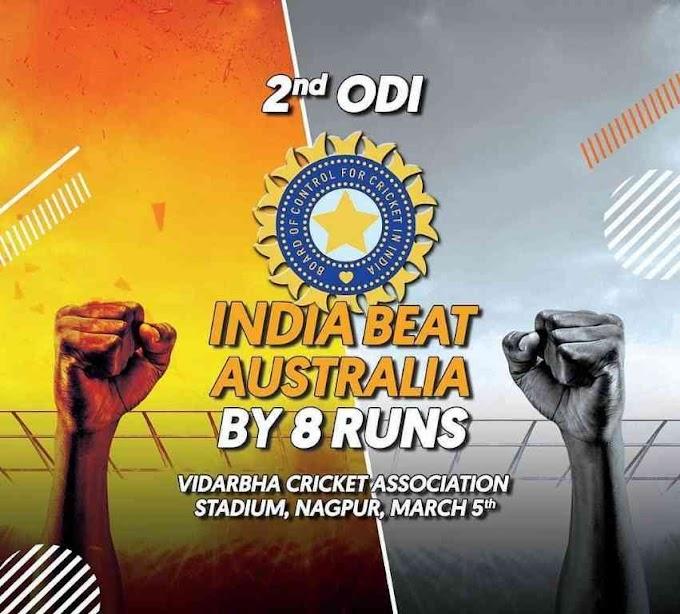 India beat Australia by 8 runs, Shankar picks 2 wickets in the last over, 7 records broken