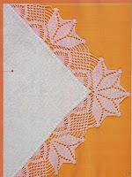 Bico de Crochê Com Gráfico