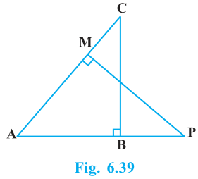 Triangles Exercise 6.3 Question No. 9
