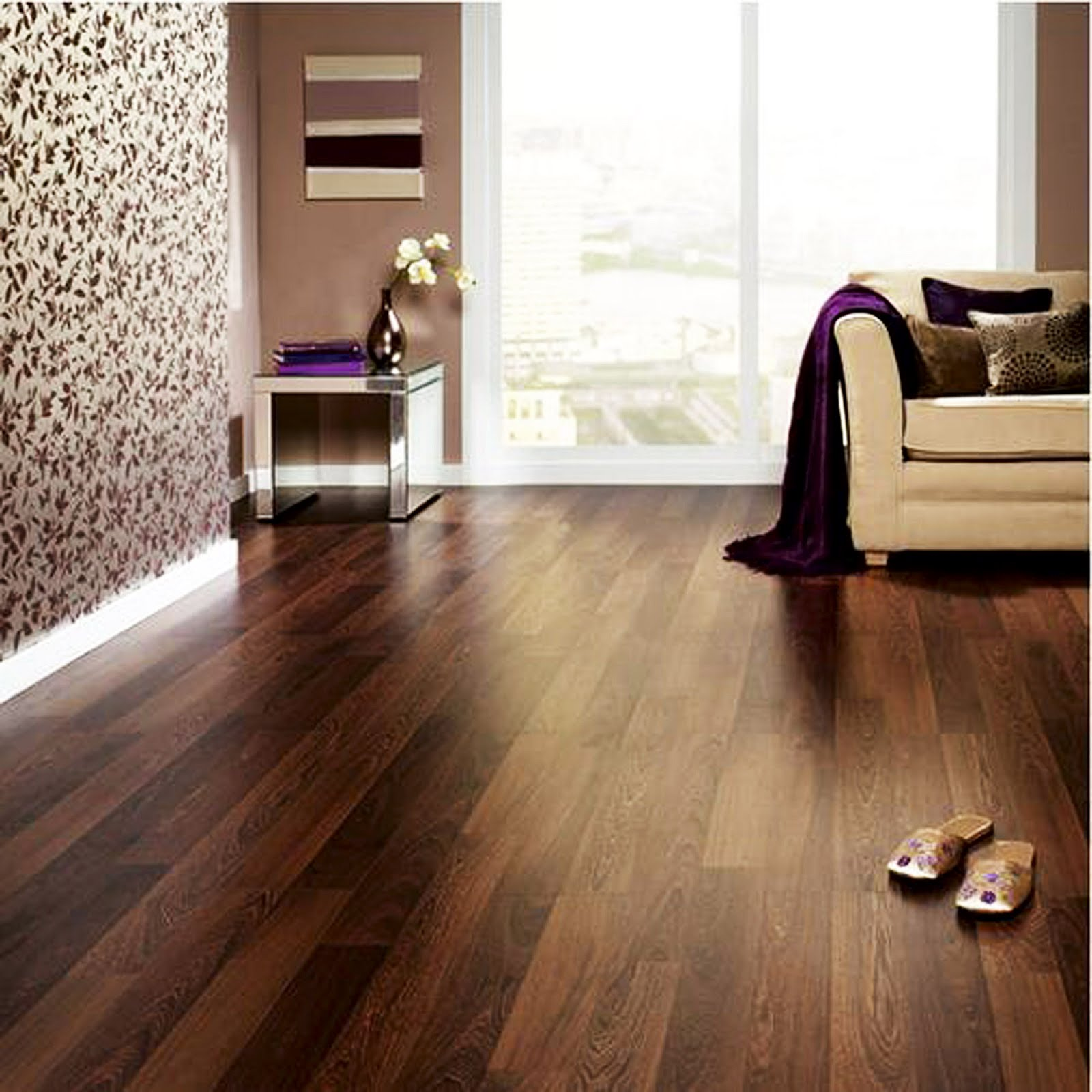 Modern laminate flooring interior decorating idea - Laminate or wood flooring ...