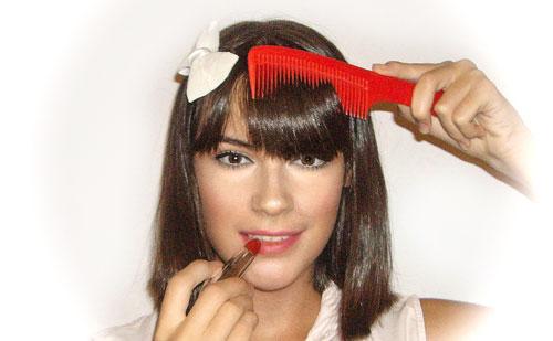 trucos maquillaje flequillo monika sanchez guapa al instante