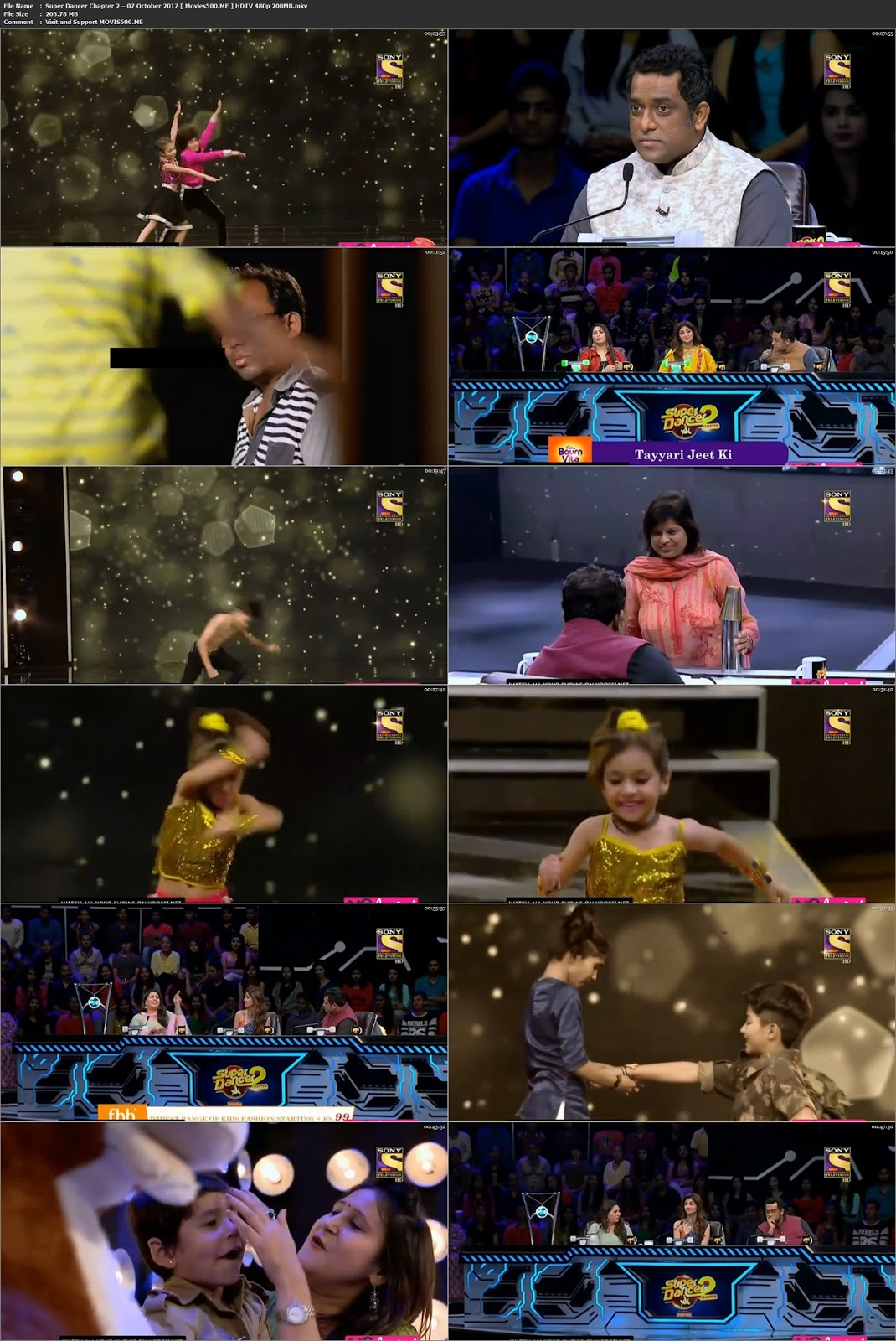 Super Dancer Chapter 2 2017 07 October HDTV 480p 200MB at movies500.info