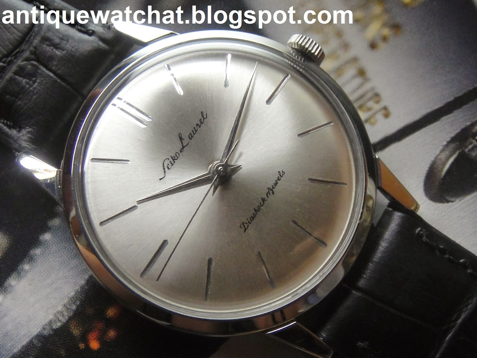 Antique Watch Bar Seiko Laurel Diashock 03 Sold
