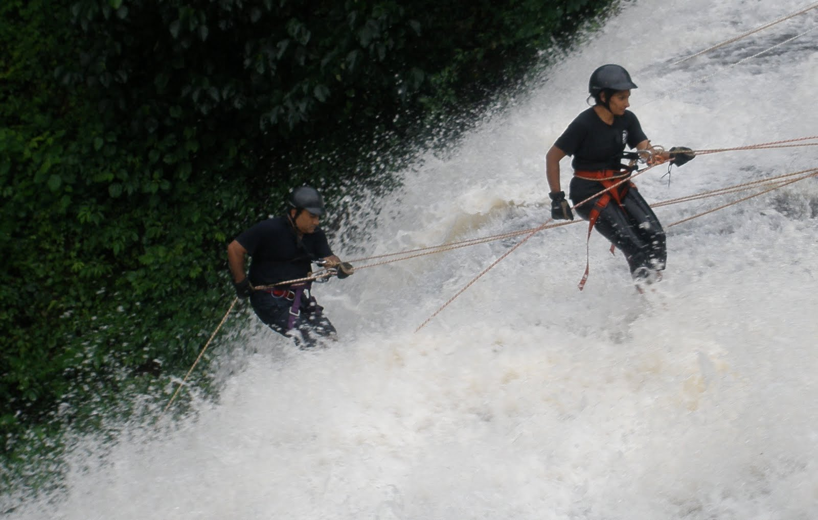 Nature Knights Waterfall Rappelling