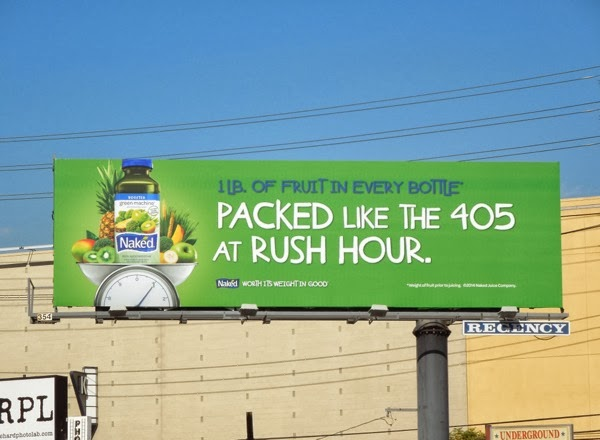 Packed like the 405 at rush hour Naked billboard