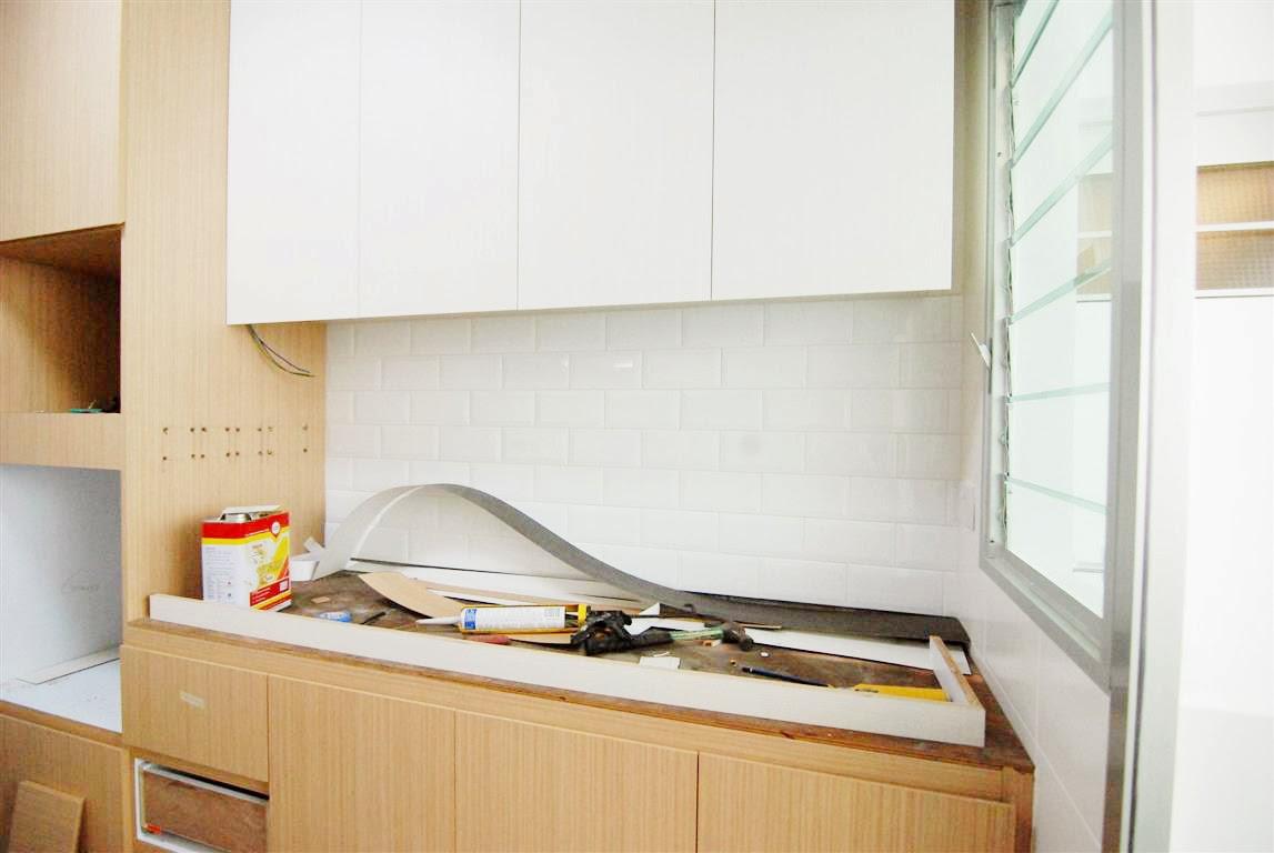 butterpaperstudio: Reno@Yishun - Subway tiles for kitchen backsplash