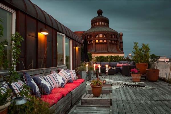 Hogares Frescos Casa Sueca Con Terraza En La Azotea Increíble