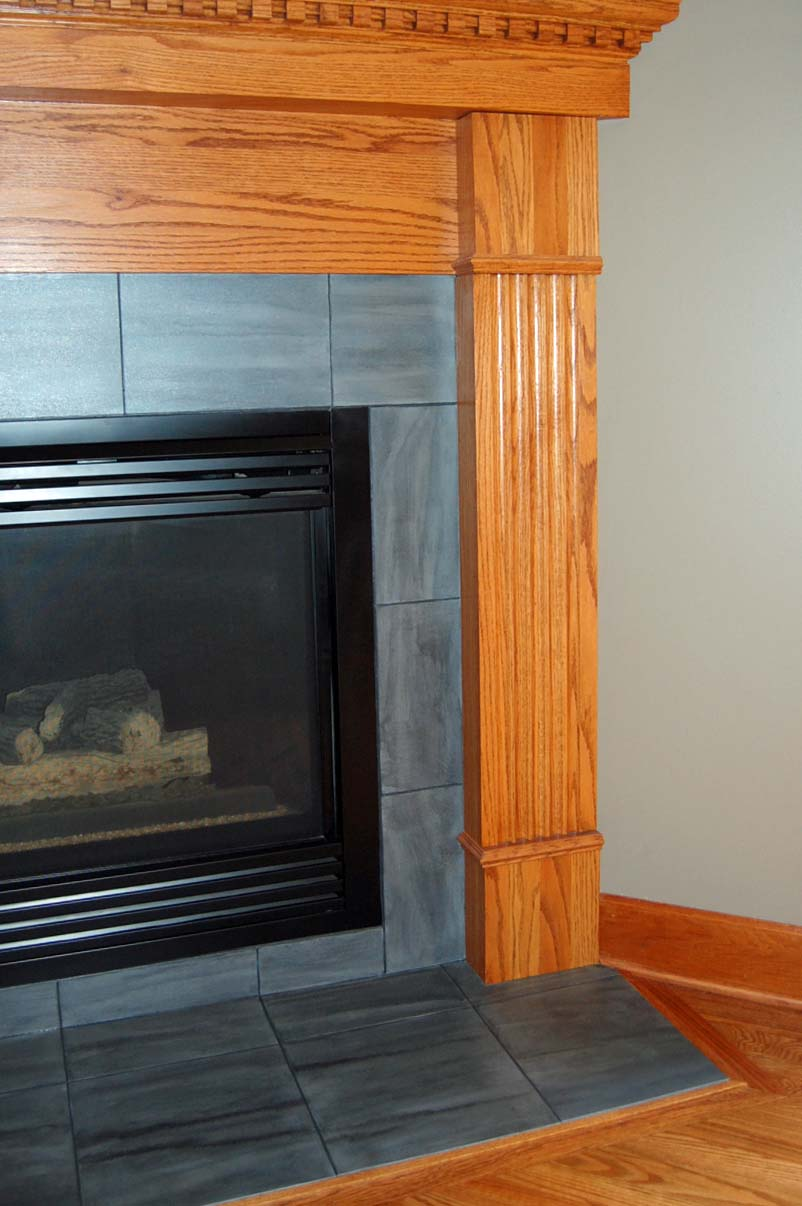Davis Creative Painting: PAINTED FIREPLACE TILE