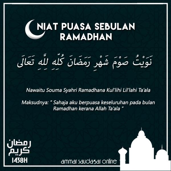 Cara Niat Puasa Ramadhan, Doa Buka Puasa Serta Panduan