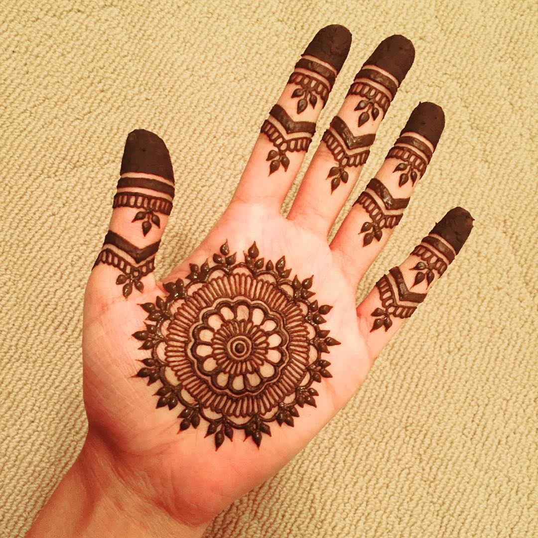 Mehndi Design For Fingers Front Side : New simple mehndi henna designs for hands buzzpk