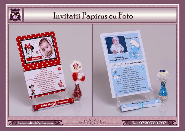 invitatii botez papirus